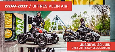Can-Am On-Road lance ses offres « plein air* »